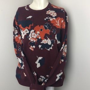 ASOS • Burgundy Abstract Print Pullover • Size M